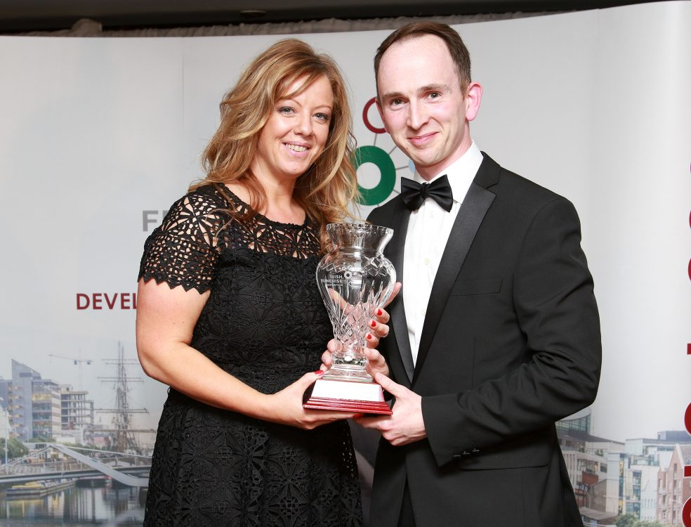 Irish Franchise Awards presenting the award for Best New Business Model to Sinead Reid, AIL Group for Oasis of Taste