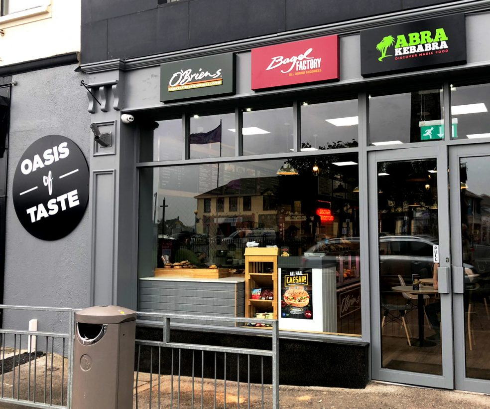 Oasis Of Taste Redmond Square, Wexford with Abrakebabra, Bagel Factory and O'Briens Café